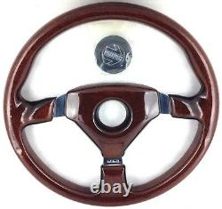 Genuine Momo Veloce S 350mm Wood steering wheel. New Old Stock. Rare! 18A