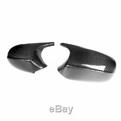 M3 Style REAL Carbon Fiber Mirror Cap Cover For BMW E90 E92 E93 Facelifted 08-11