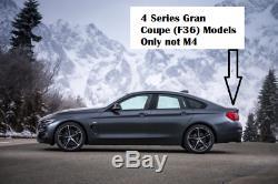 M4 Style BMW 4 Series Carbon Fibre Spoiler 2014 + 4dr F36 Gran Coupe Real Carbon