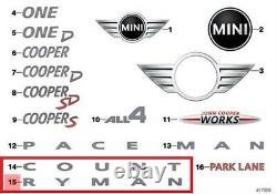 Mini New Genuine Countryman R60 Badge Emblem Sticker Sign Chrome Count Ryman