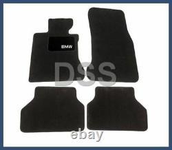 New Genuine BMW Black Carpeted Floor Mats E60 Anthracite OEM 82110302986