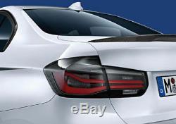 New Genuine BMW M Performance Blackline Tail Lights F30 F80 Set OEM 63212450105