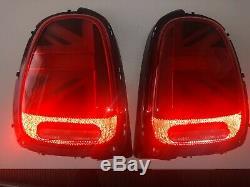 New Genuine BMW Mini F55 F56 F57 Union Jack UK LED Tail Lights OEM PAIR