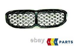 New Genuine Bmw F40 M135ix Front Diamond Pattern Shadow Line Kidney Grille