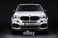 Pair Genuine BMW F15 X5 F16 X6 Gloss Black M Performance Grilles 51712334708 710