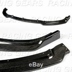 REAL CARBON FIBER FRONT BUMPER LIP 3-PCS FIT 14-19 BMW F23 228i M235i 2-SERIES
