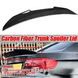 REAL Carbon Fiber PSM Trunk Spoiler For BMW E92 320i 328i 335i Coupe 2007-2012