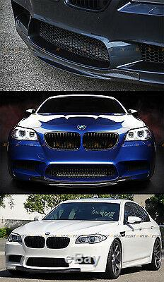 R Style Carbon Fiber Front Bumper Center Chin Lip Spoiler For 2012-2017 Bmw M5