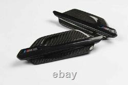 Real Carbon Fibre Wing Fender Vents Grille Cover Trim For BMW M2 F87 Replacement