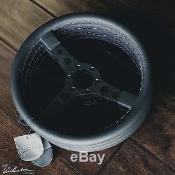 Viilante Corsa 350 Steering Wheel Genuine Leather Tri-color Stitch Bmw E30 M3
