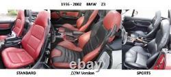 1996-2002 Couvertures De Sièges En Cuir De Remplacement Bmw Z3 Maroon/borgundy