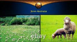 2× Couvercle De Siège Avant Coussin Véritable Fourrure De Mouton Australien 54,3×24.8 En