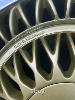 4 Véritable Aluline Aluminium Deep Dish Alliage Roues Bmw 5x120 Bbs Oz E24 E28 E32 E30