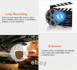 4ch 720p Enregistreur Vidéo Dvr Panoramique 360°car En Temps Réel Sd+4x Camera+7 Moniteur