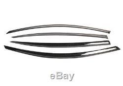 4x Véritable Fibre De Carbone Fenêtre Pare-vent Pluie Garde Bmw Série 3 F30 F80 M3