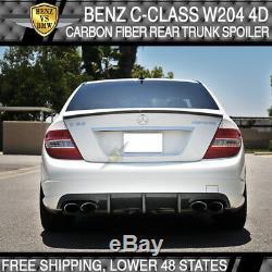 Benz Classe C W204 4d 08-14 Du Coffre Arrière De Démarrage Aileron Wing Réel En Fibre De Carbone Cf Couvercle