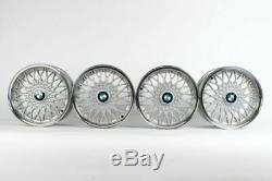 Bmw E30 15x7 4x100 Bbs # 5 Véritable Euro-tissages Oem Roues E10 E21 318i 325i Ate