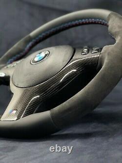 Bmw E46 E39 E53 Sport M Power Steering Wheel Carbon Alcantara Leather Oem