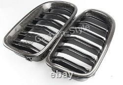 Bmw F10 F11 Série 5 Fibre De Carbone Véritable Twin Slat Grill M5 520i 530i 520d