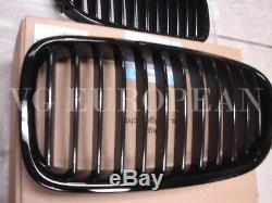 Bmw F10 Véritable Avant Noir Kidney 528i 535i 550i Grillages Grille Set Nouveau-up 2011