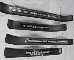 Bmw Genuine E39 5 Series 1997-2003 Plaques De Bande De Roulement De Seuil De Porte Individuelles Flambant Neuves