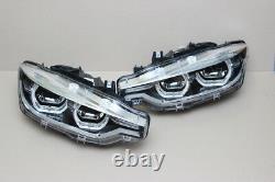 Bmw Led Adaptive Headlight 3 Series F30 F31 LCI Ahl Pair Véritable