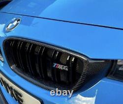 Bmw M4 Grilles De Rein En Fibre De Carbone Véritable Avec Emblème Badge Grill F82 F83 F80