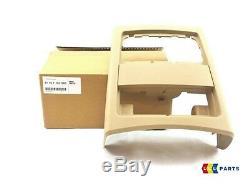 Bmw New Genuine Série 3 E90 E91 05-12 Console Centrale Arrière Beige Couverture 7145683