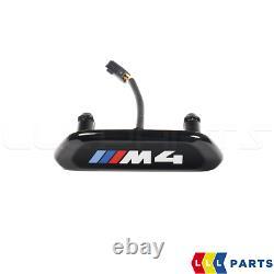 Bmw Nouveau Véritable 4 F82 F83 M4 Siège Avant Étalon Illuminé Emblème D'insigne 1 Pcs
