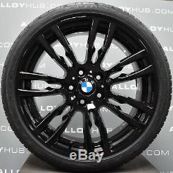 Bmw Série 3 403m Sport F30 / 31 Noir Jantes En Alliage 19 Pouces + Pneus Neufs X4