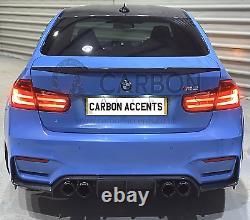 Bmw Série 3 F30 M3 F80 Real Carbon Fibre Fiber V M3 Style Spoiler 2012+
