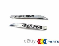 Bmw Véritable Nouveau 1 F20 Porte Avant Tweeter Haut-parleur Gauche Droite Couverture Paire Alpine