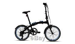 Bmw Véritable Pliant En Aluminium Léger 20 City Bike Noir Bleu 80912447964