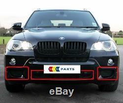 Bmw X5 E70 Nouveau Véritable 2007-2010 M Sport Pare-chocs Avant Inférieur Grill Ensemble 3 Pièces