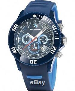 Bracelet En Silicone D'origine Bmw Motorsport Chrono Ice Watch Au Poignet, Étanche