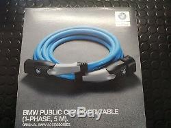 Câble D'origine Bmw D'origine Monophasé 7,4 Kw Ca I8 I3 & Phev 330e 530e 61902455069