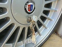 E30 Bmw Véritable 16 Alpina Staggered Jantes En Alliage, Pneus Neufs Set Mint, 3 Clés
