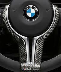 Garniture De Volant De Direction En Carbone Brillant Pour Bmw M3 / M4 M