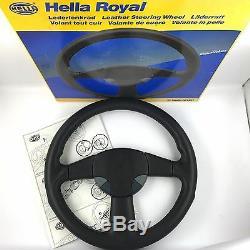 Hella Sport Royal De Momo Volant De Direction En Cuir. Véritable Nos Rare 18a