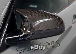 M4 / M3 Real En Fibre De Carbone Pour Covers Aile Miroir Bmw M3 / M4 F80 F82 F83
