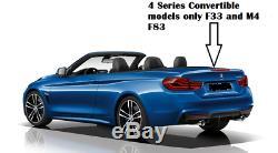 M4 Style Bmw 4 Série En Fibre De Carbone Spoiler 2014+ F33 / F83 Convertible Réel Carbone