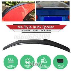 M4 Style Real Carbon Fiber Boot Trunk Spoiler Pour Bmw 3 Series E90 M3 Saloon Uk