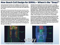 Nouveau Bmw Ensemble De 6 Bobines D'allumage Mis À Jour Avec Soufflet De Connecteur Genuine Bosch 0221504470