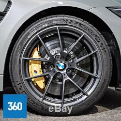 Nouveau Véritable Bmw M3 M4 19 20 763m Sport Jantes En Alliage Michelin Tpms
