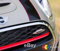 Nouveau Véritable Mini F55 F56 F57 Jcw Bonnet Capot Noir Avec Rayure Rouge À Fines Rayures