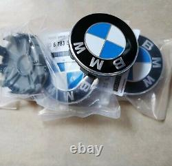 Oem Pour Ajustement Bmw Wheel Center Hub Cap 68mm Rim Cover Genuine Logo Emblem Alloy