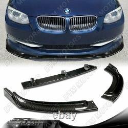 Pour 2011-2013 Bmw 3-series 2dr E92 E93 Real Carbon Fiber Front Bumper Body Lip