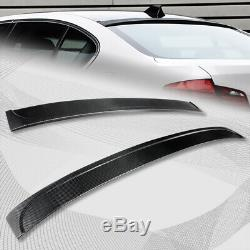 Pour 2011-2016 Bmw F10 / F18 Série 5 M5 Réel Arrière En Fibre De Carbone Aileron Wing