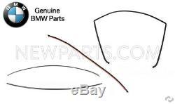 Pour Bmw E90 E91 E92 3 Série 4 Pièces Pare-brise Avant Et Arrière D'origine Moulures
