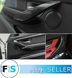 Pour Bmw Genuine Carbon Fibre Interior Door Handle Cover Trim 3 4 Series F30 F32